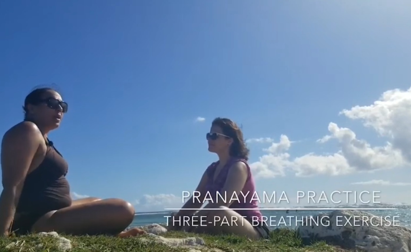 The Irony of Lifeand Breath - On our first beach day I wanted to shoot some content to share with my students and I chose to record me teaching Katie a three part breathing exercise. Breath is life, and pranayama is breath control, so therefore breath control, is life control, right? You can click here to watch and practice three part breathing with me and Katie. You may be wondering what is so ironic about day 1 and breath control. Well, day 2 on the beach will explain it.