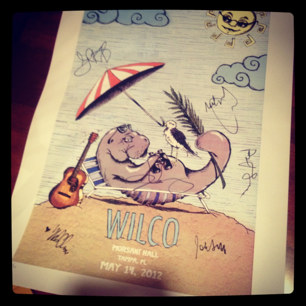 Band autographed copy of the printed poster.