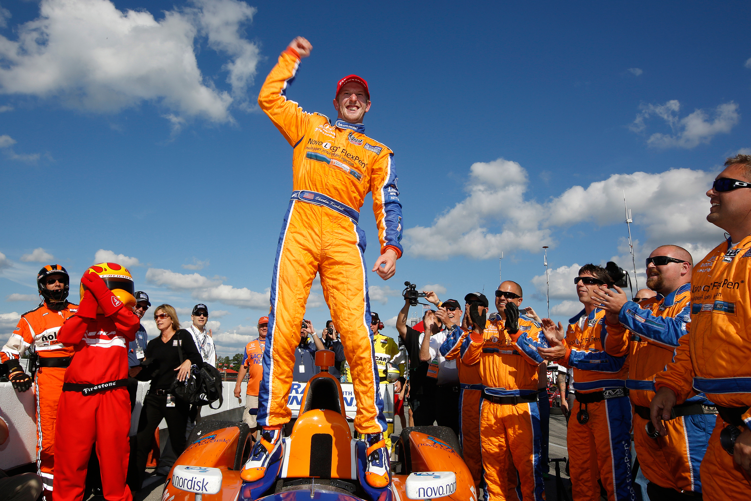 Charlie Kimball wins the mid-Ohio  INDYCAR race in August 2013