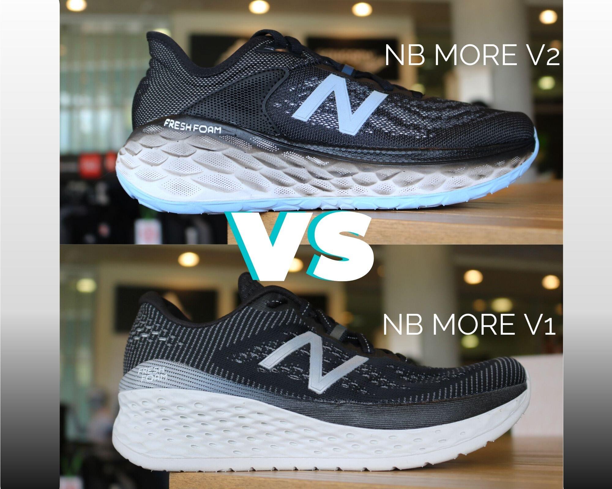 New Balance Fresh Foam More V1 vs V2