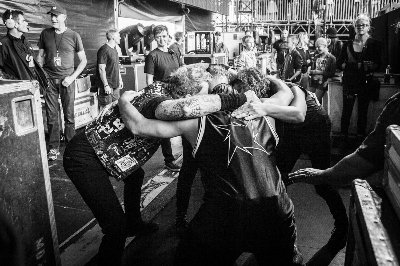 Metallica Pre-Show Huddle