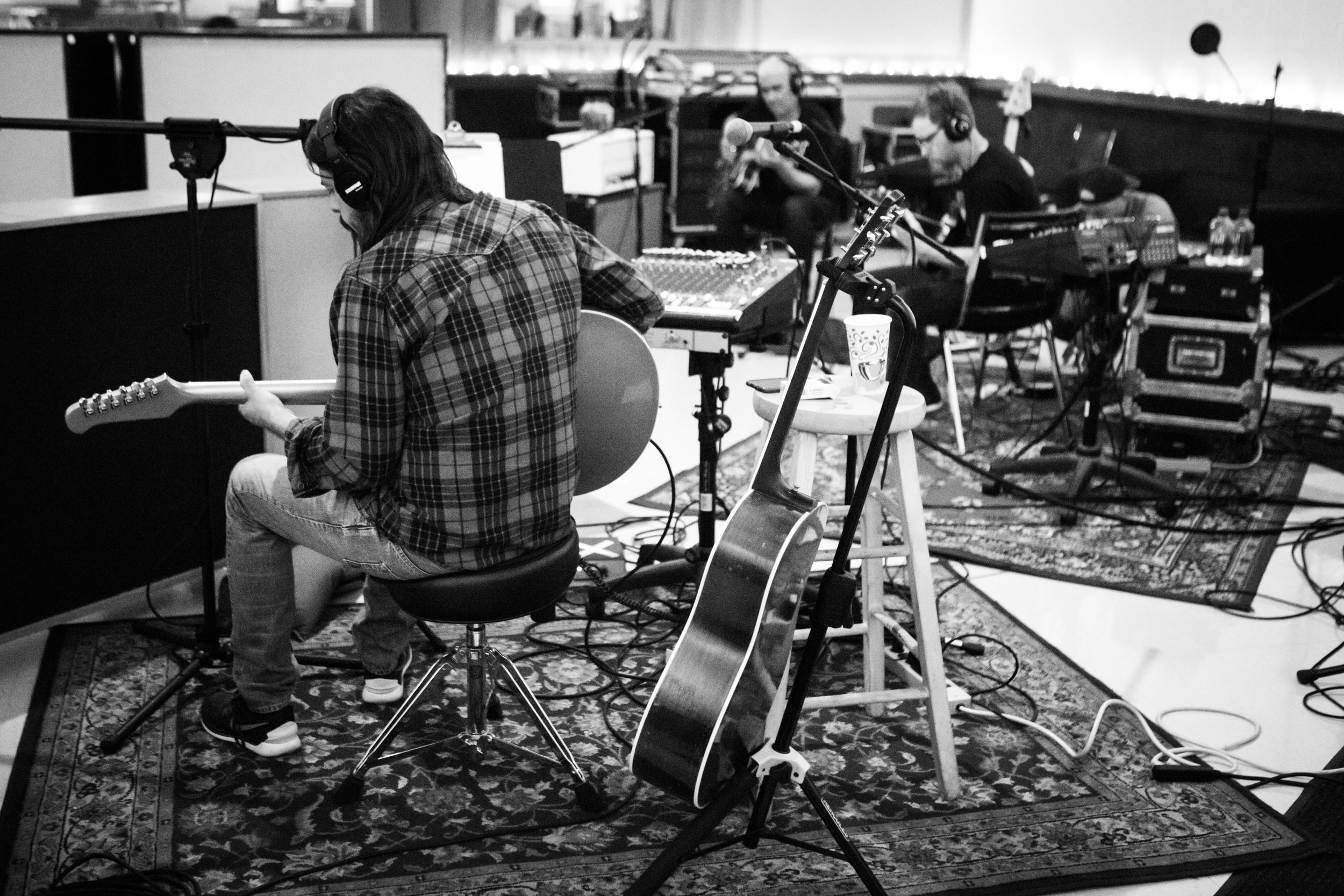 Dave Grohl of the Foo Fighters in LA Studio