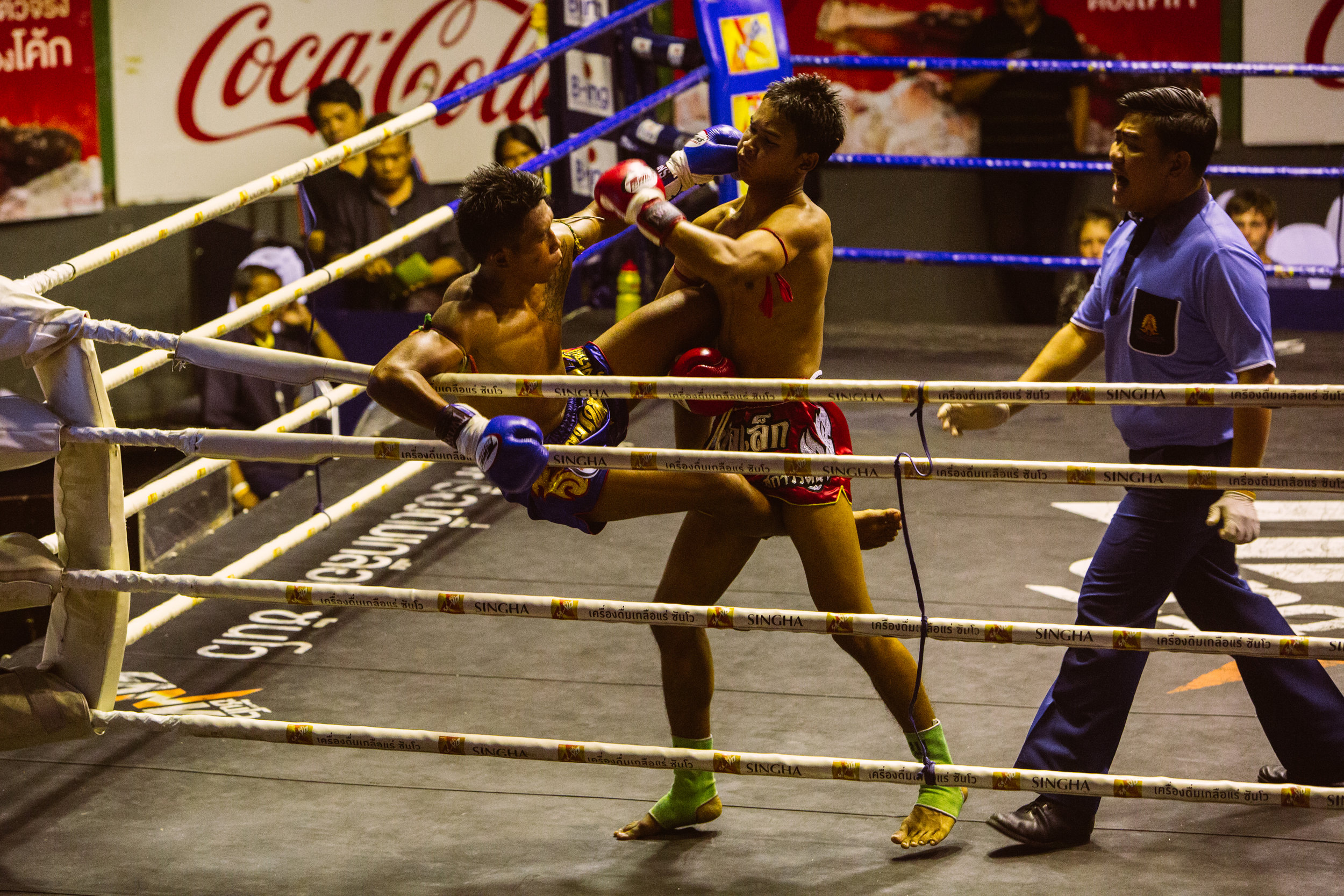 Muay Thai Fighting, Bangkok, Thailand