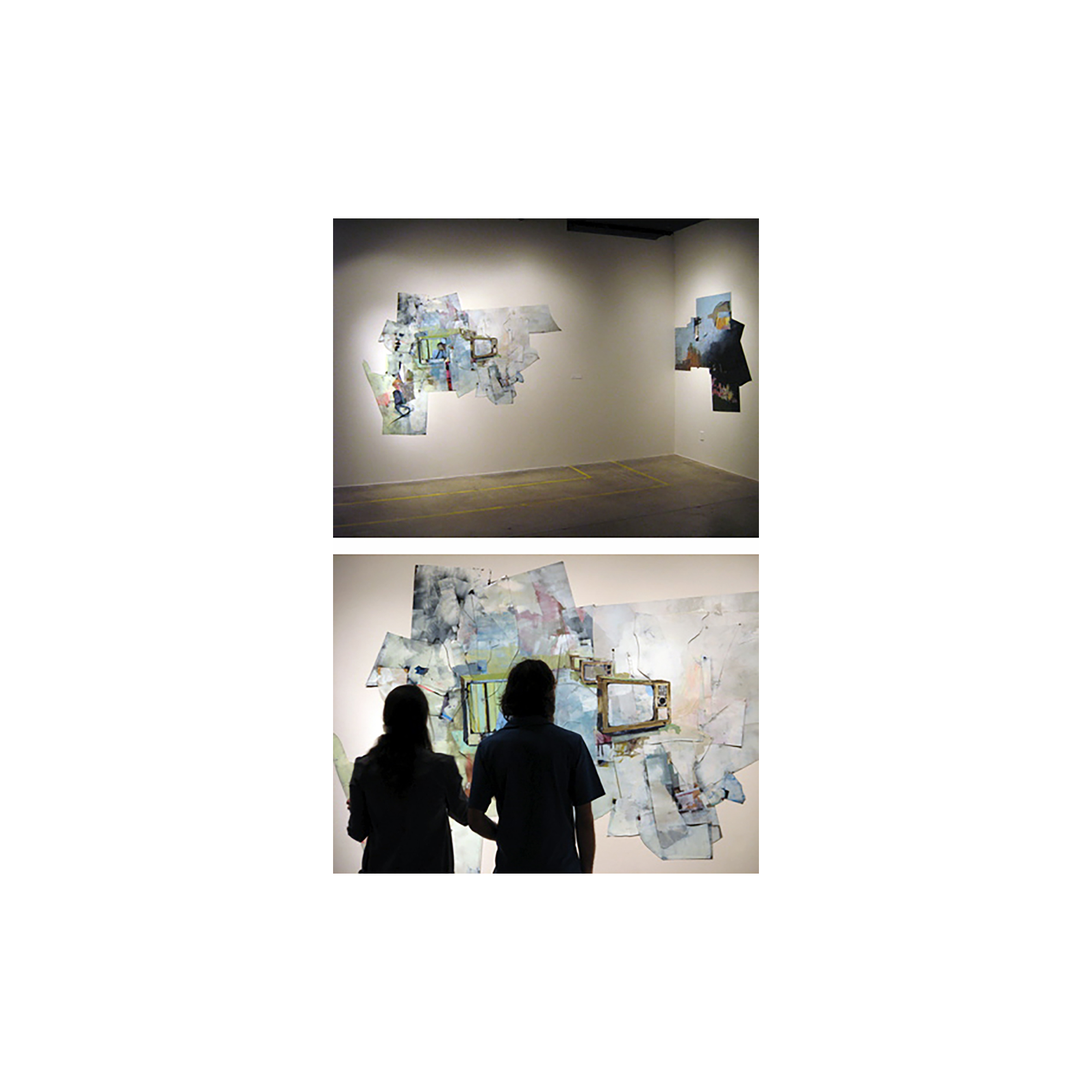 Two Paintings (Installation View)