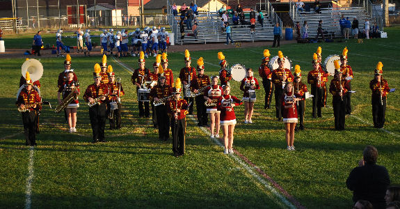 Potterville Marching Band half-time show