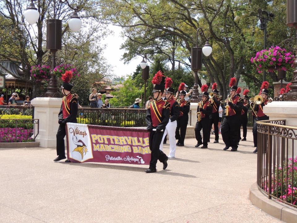 Potterville Marching Band at Disney