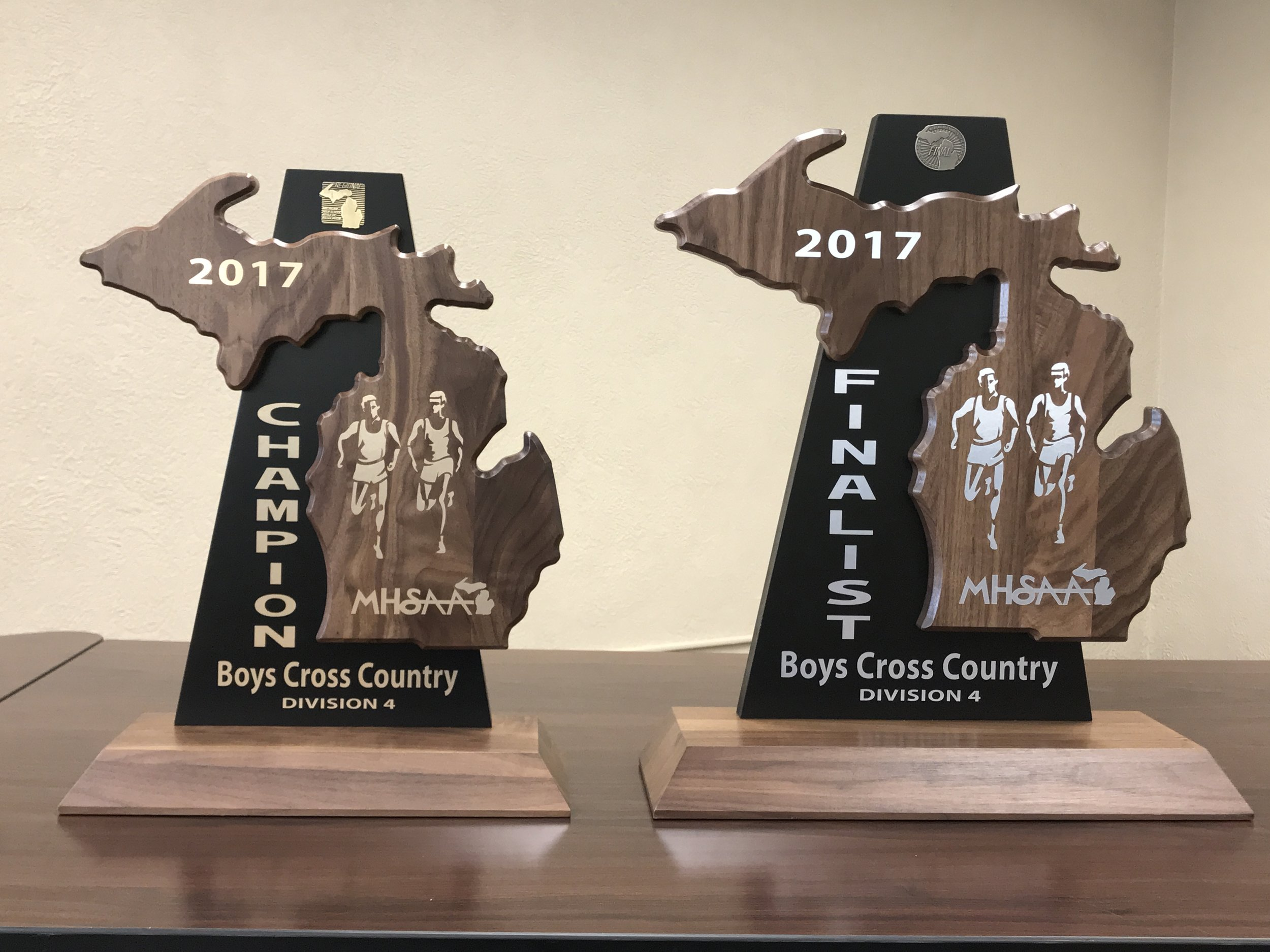 Potterville Boys Cross Country Championship Trophies