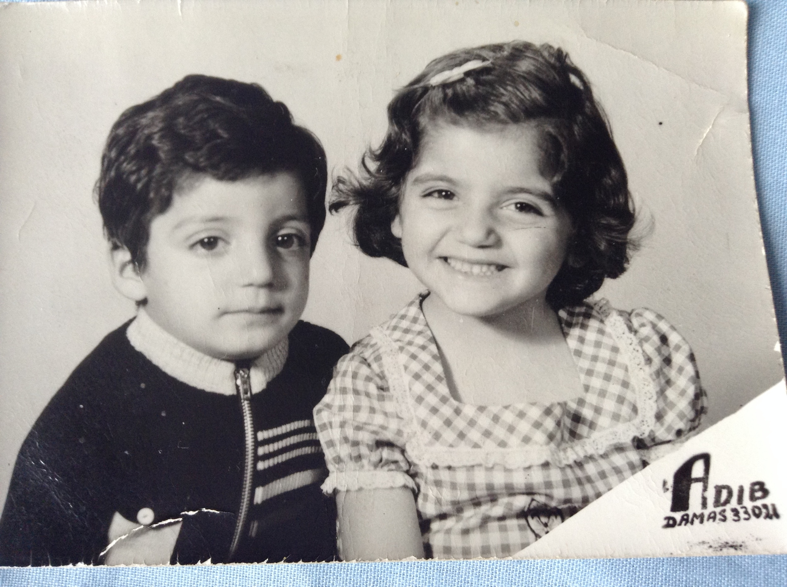 My brother and I at the age of 5 and 6 respectively.