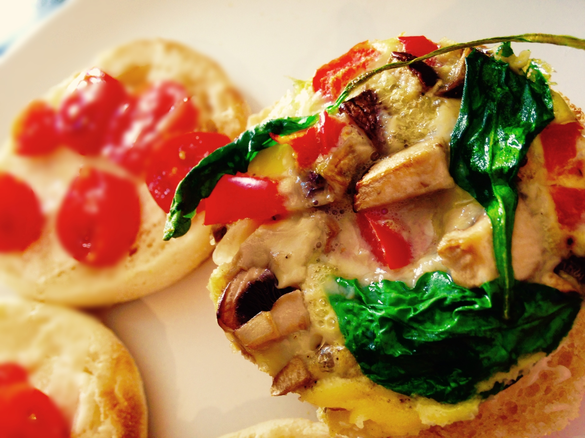 Eggs-on-the-go served on low calorie English Muffins (4 Weight Watchers Smart Points as shown here)