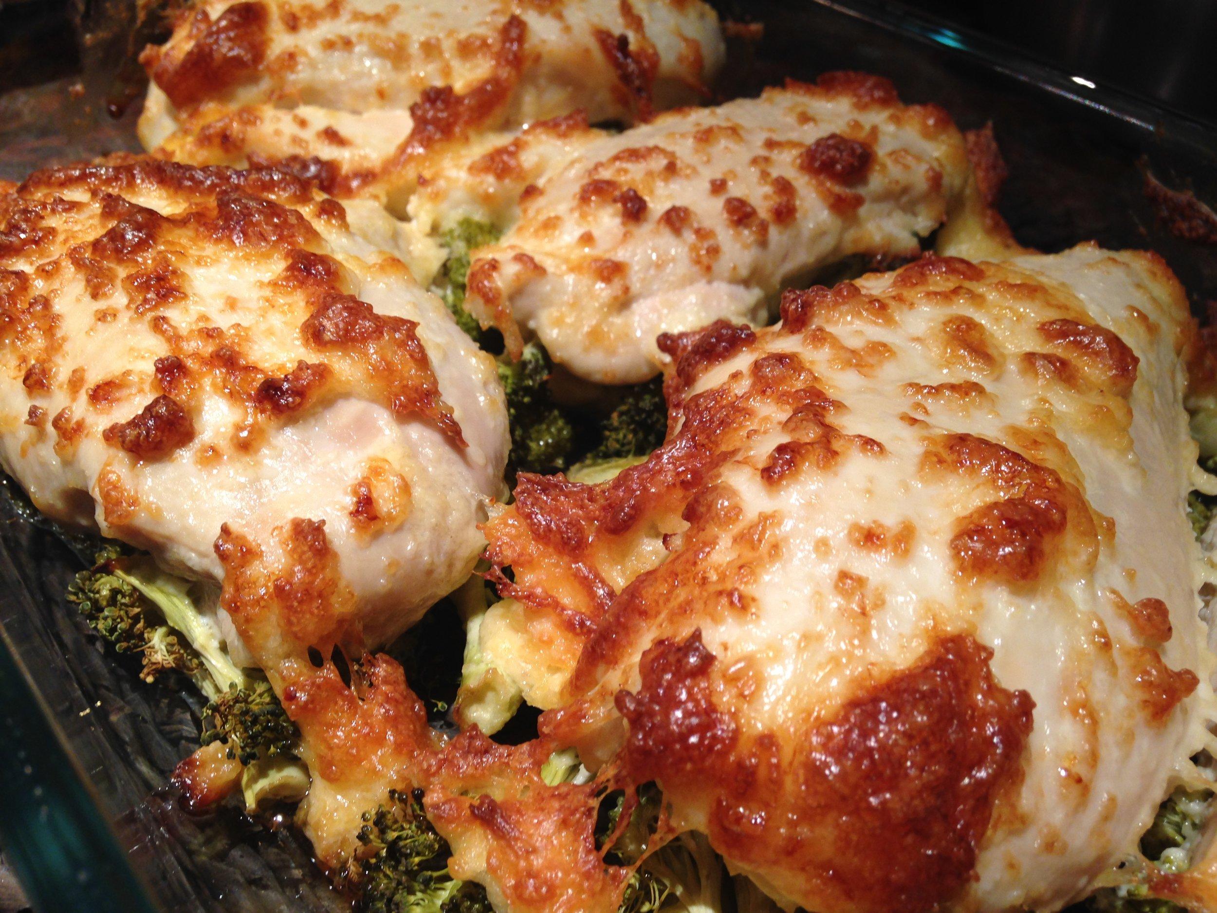 Healthy Parmesan Chicken & Broccoli