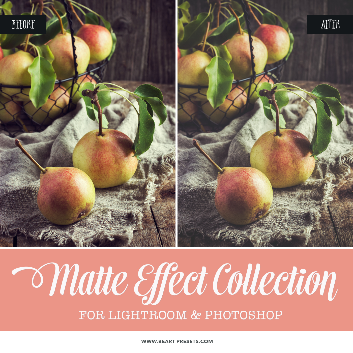 Matte effect for food photography