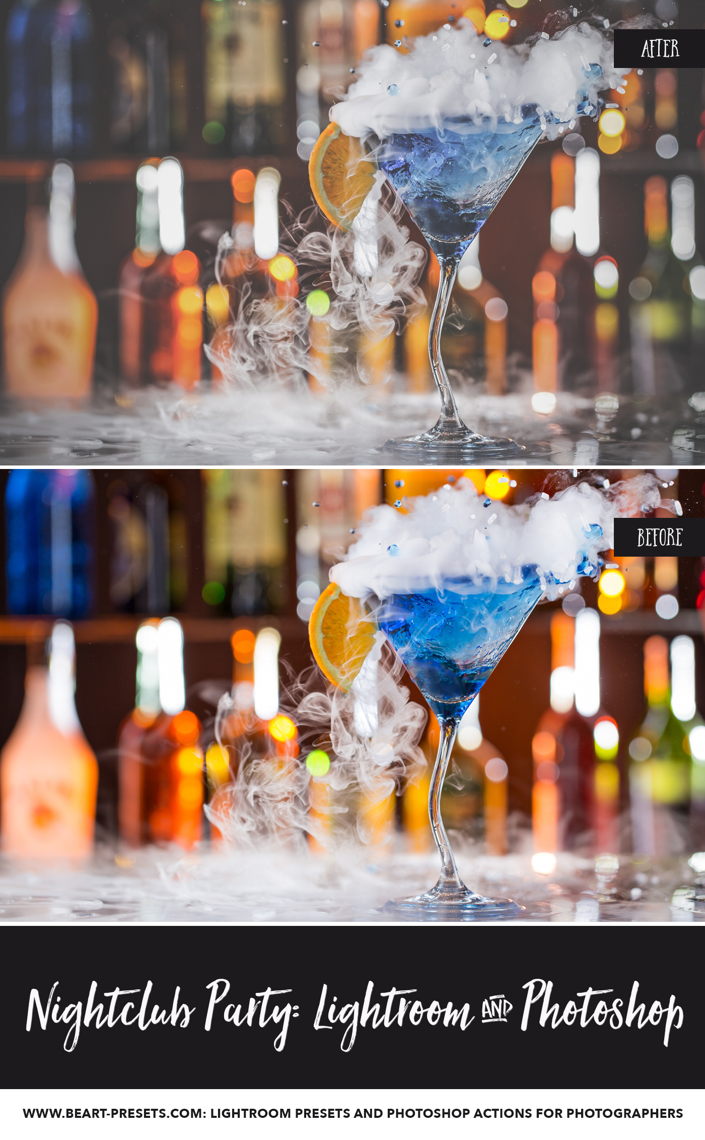 Photoshop actions for making nightclub pictures look professional
