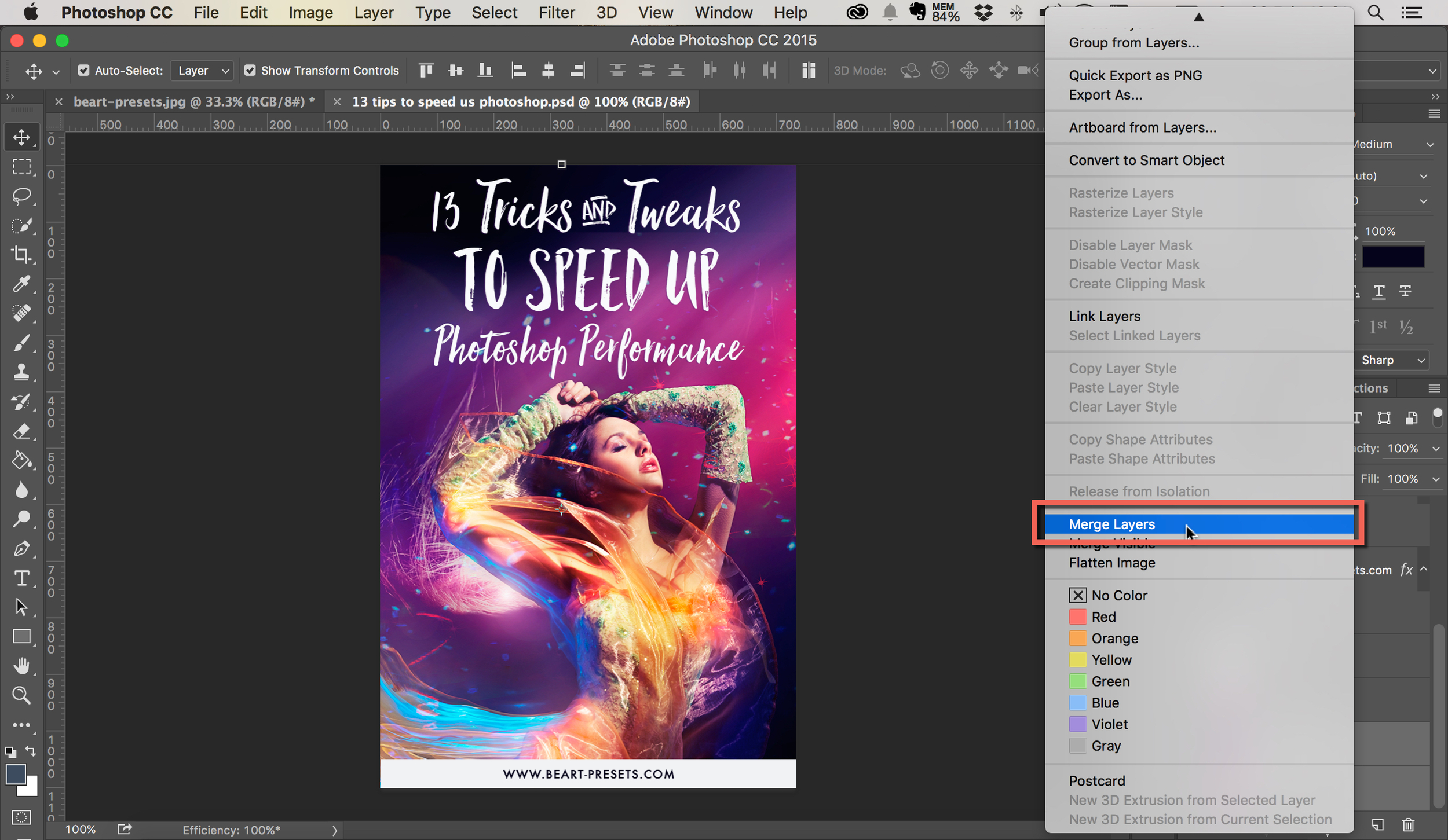merge layers in photoshop by beart