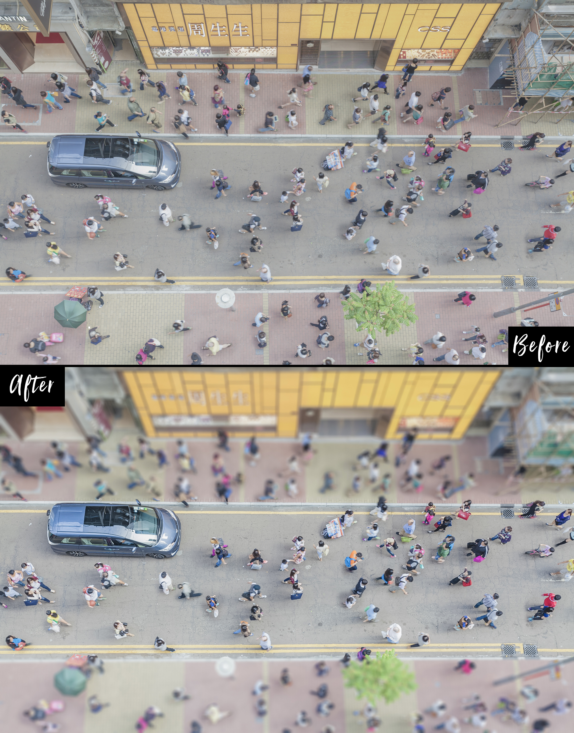before and after effect by beart