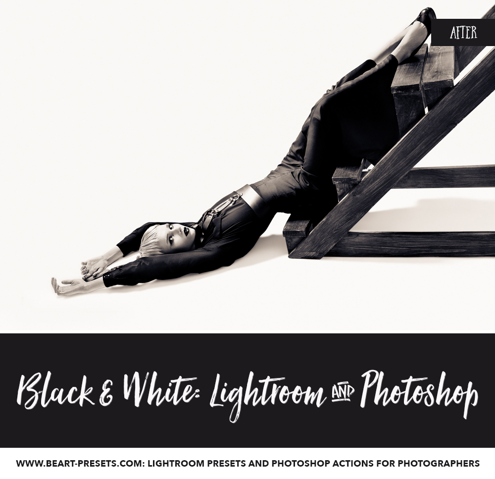 black and white photography with Lightroom presets