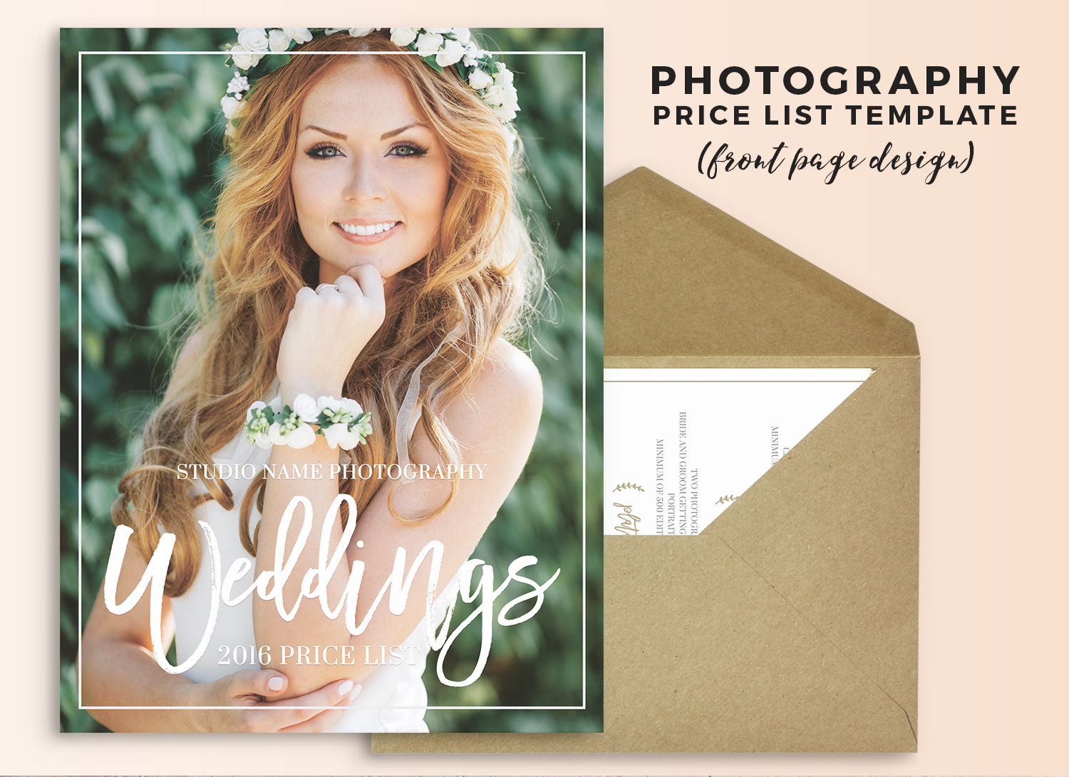 Photoshop Marketing Template - Pricing Guide