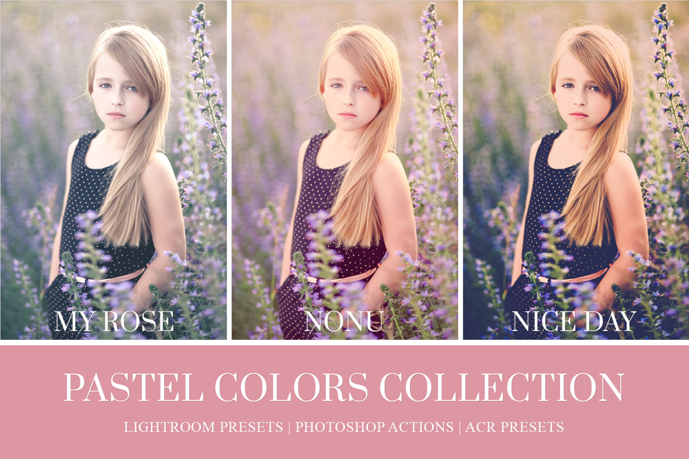 pastel color lightroom presets and photoshop actions
