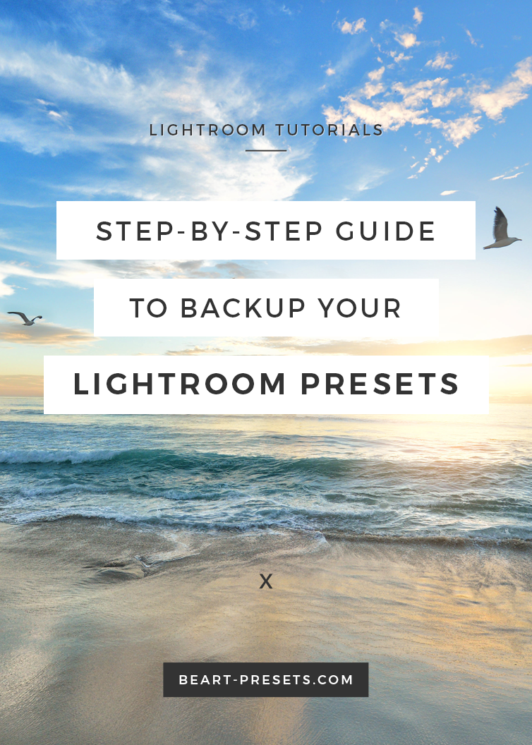 The Importance of Backing up your Lightroom Presets and a Step-by-Step Guide | @BeArtPresets
