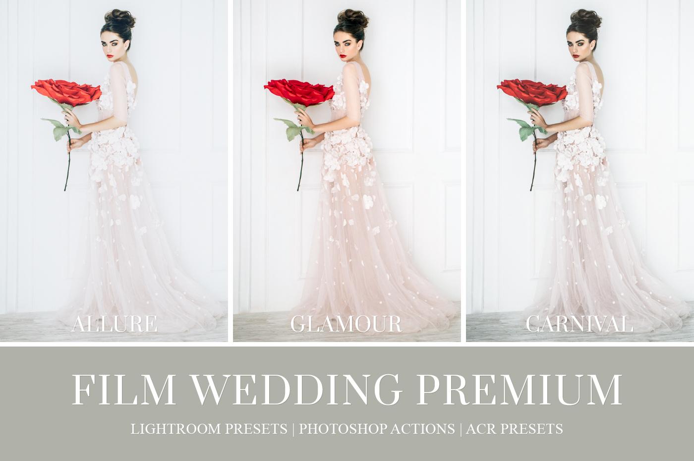film wedding lightoom preset and ps action