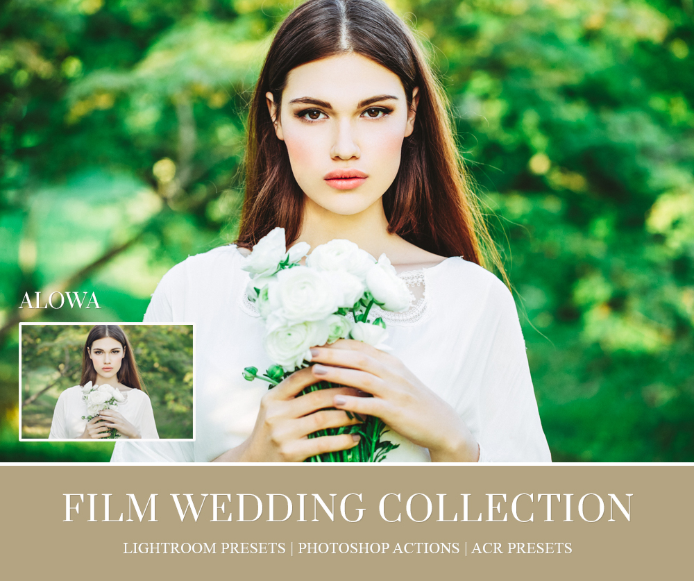 Film lightroom presets for wedding photographer