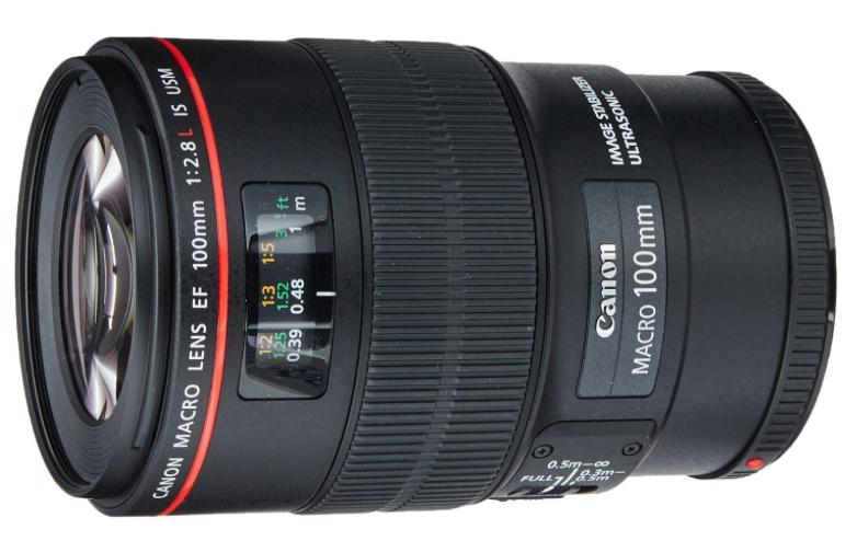 Canon EF 100mm f-2.8L IS USM Macro Lens for Canon Digital SLR Cameras