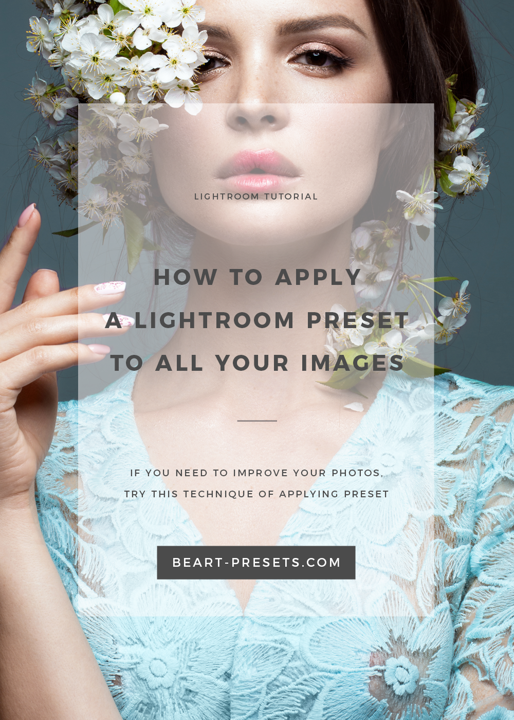how to aply preset to all images