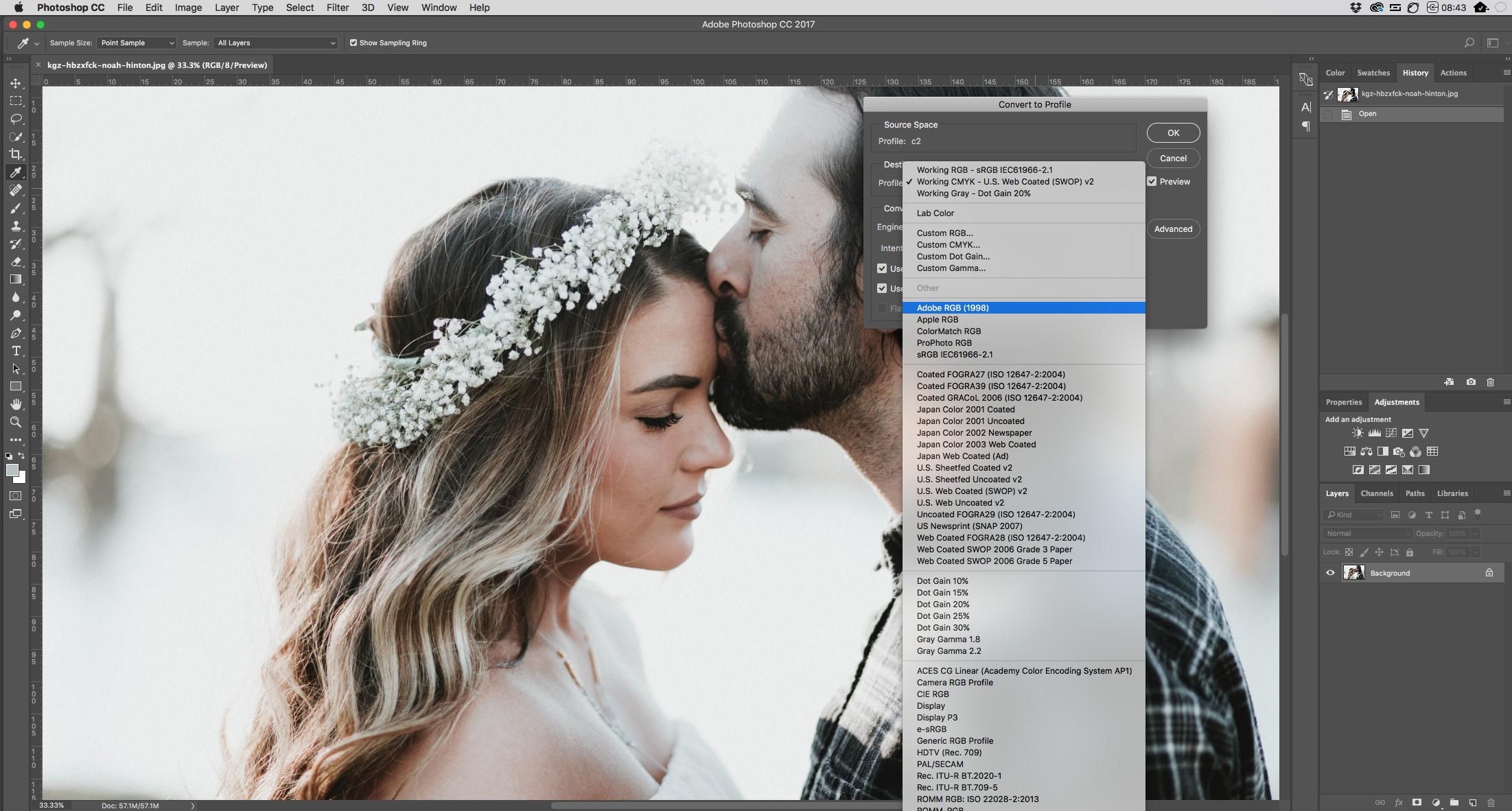 sRGB vs AdobeRGB vs ProPhoto RGB IN PHOTOSHOP