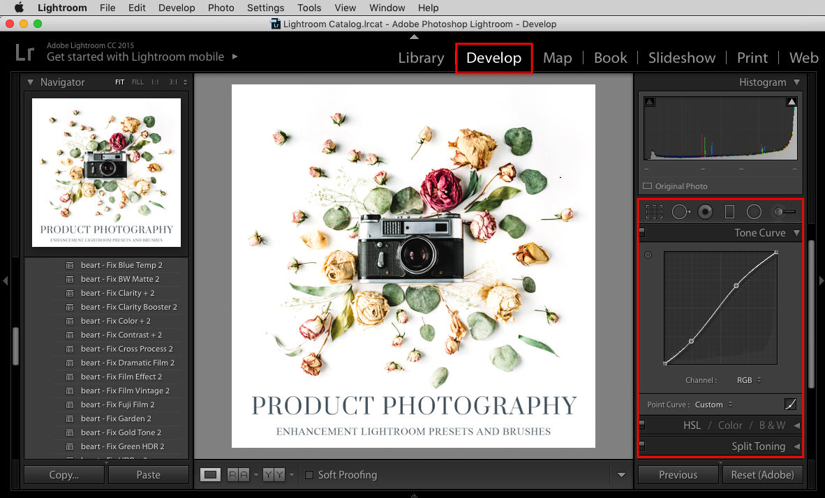 correct your photography with lightroom