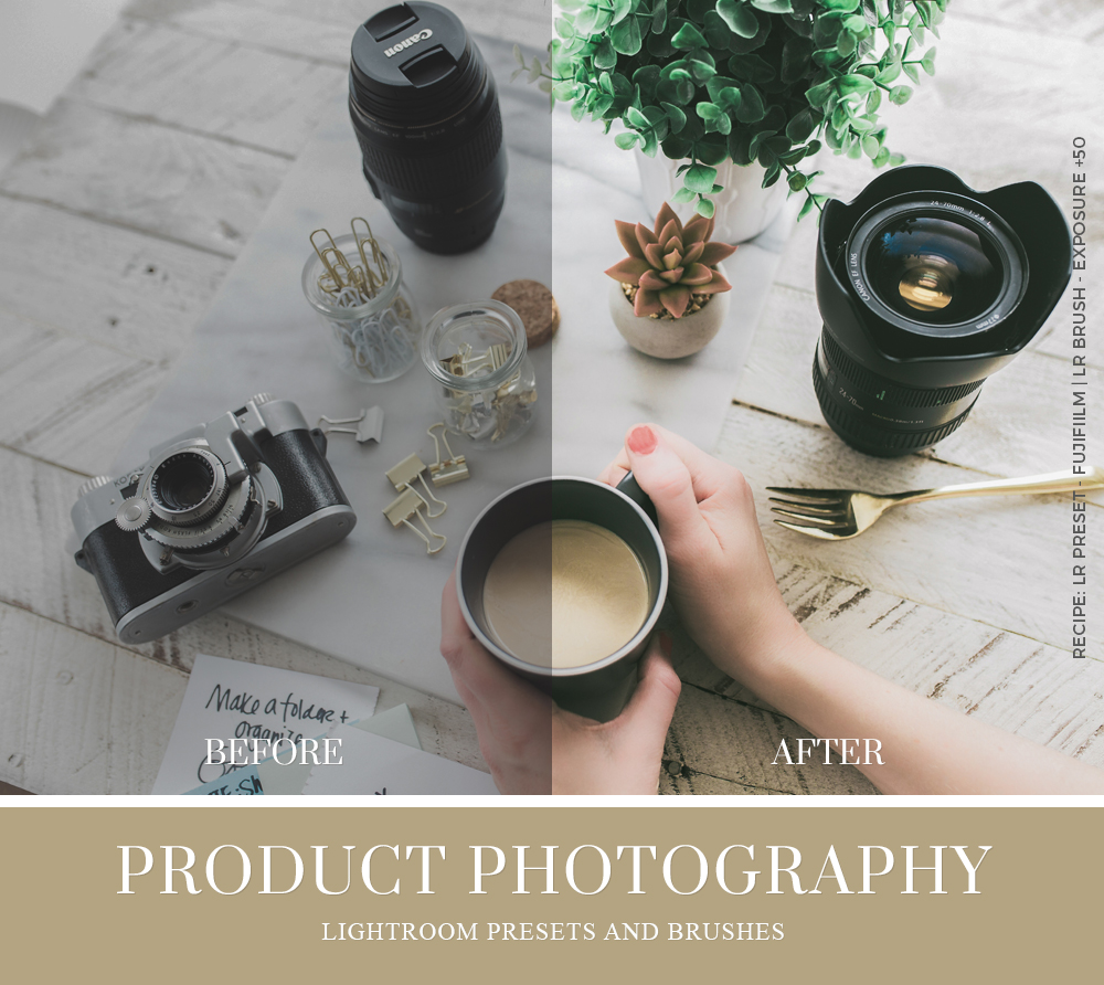 product photography collection by beart presets