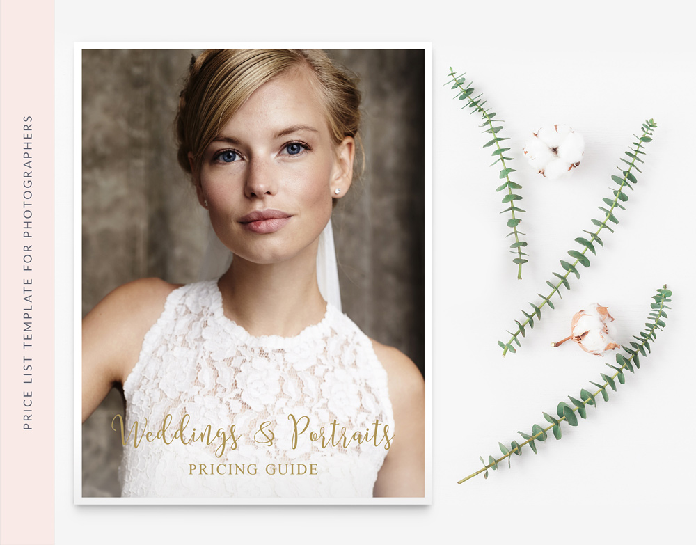 INVESTMENT GUIDE MARKETING TEMPLATE FOR WEDDING PHOTOGRAPHER