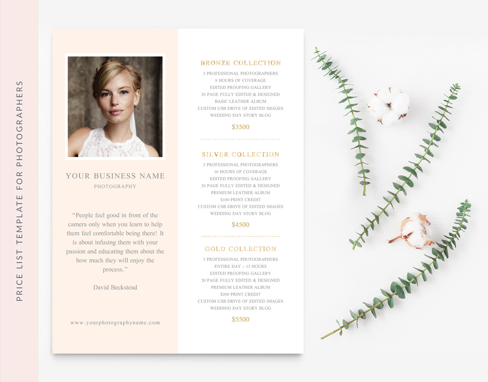 INVESTMENT GUIDE PSD TEMPLATE FOR PHOTOGRAPHER