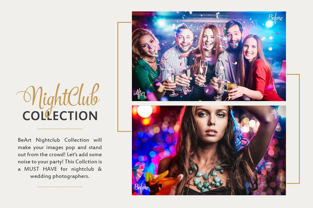 nightclub collection with premium presets and actions