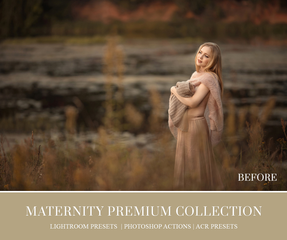 Family maternity sessions editing in camera RAW