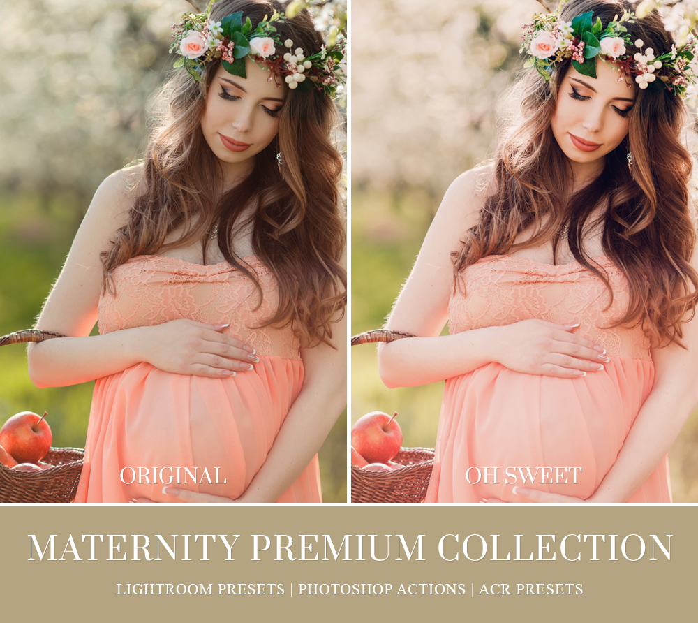Outdoor maternity photography lightroom presets