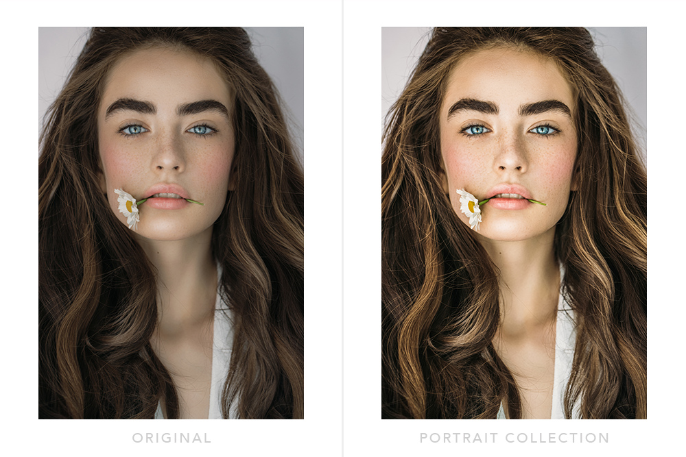 Portrait photography professional photo editing
