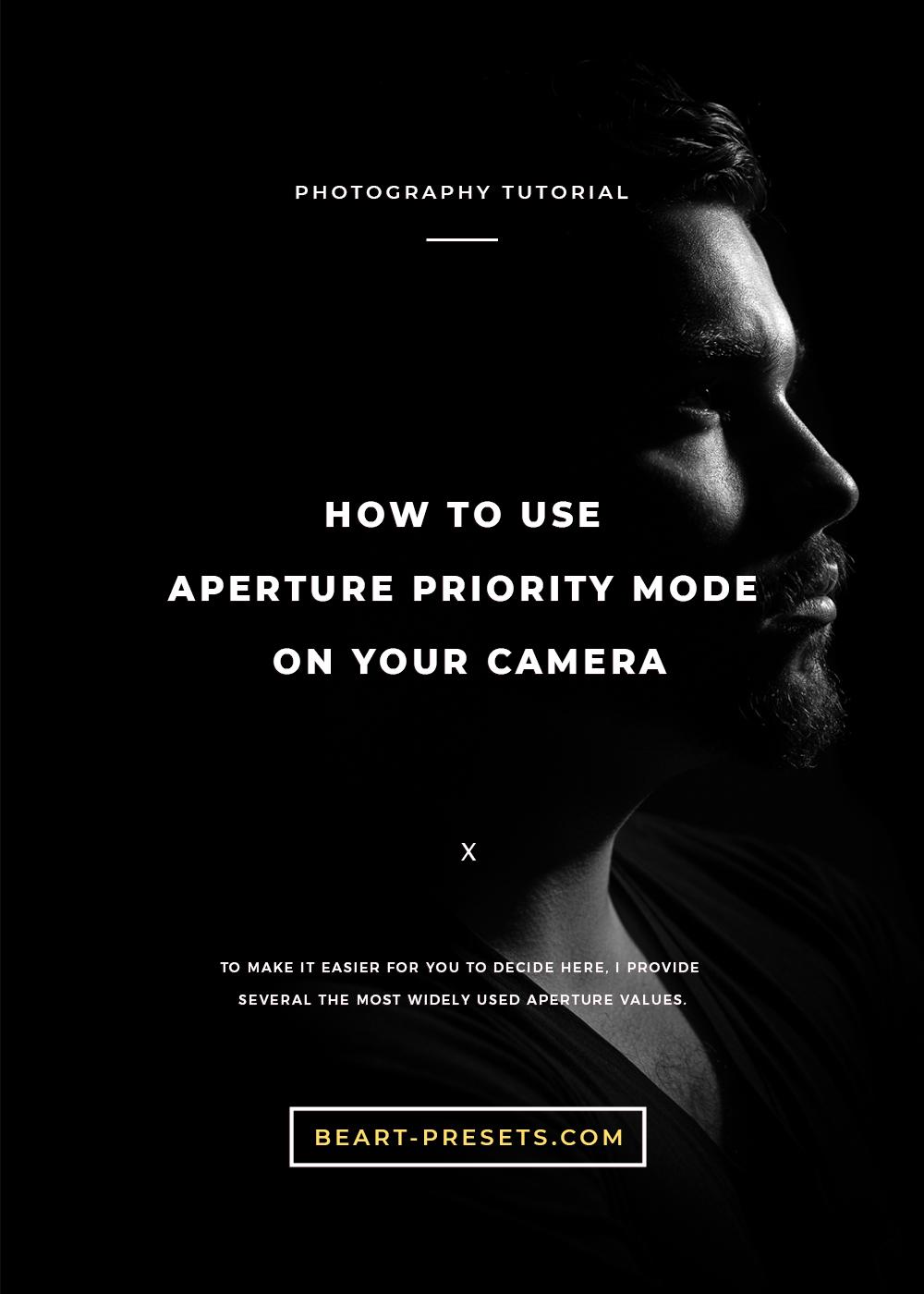 aperture priority mode in your camera