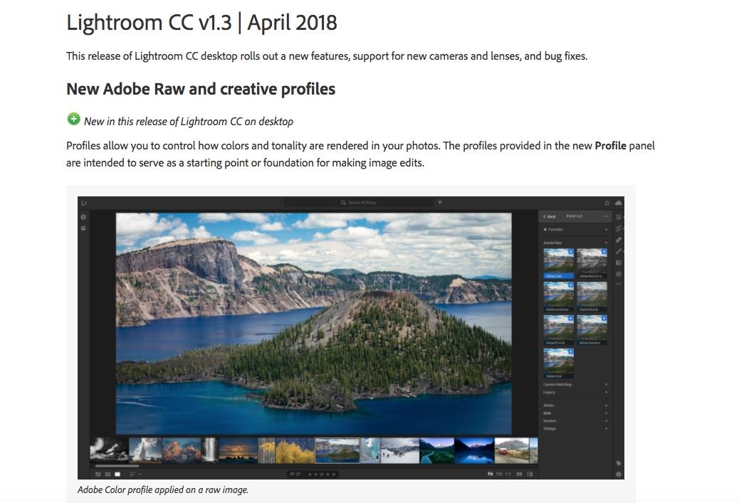 new feauteres in april update for lightroom