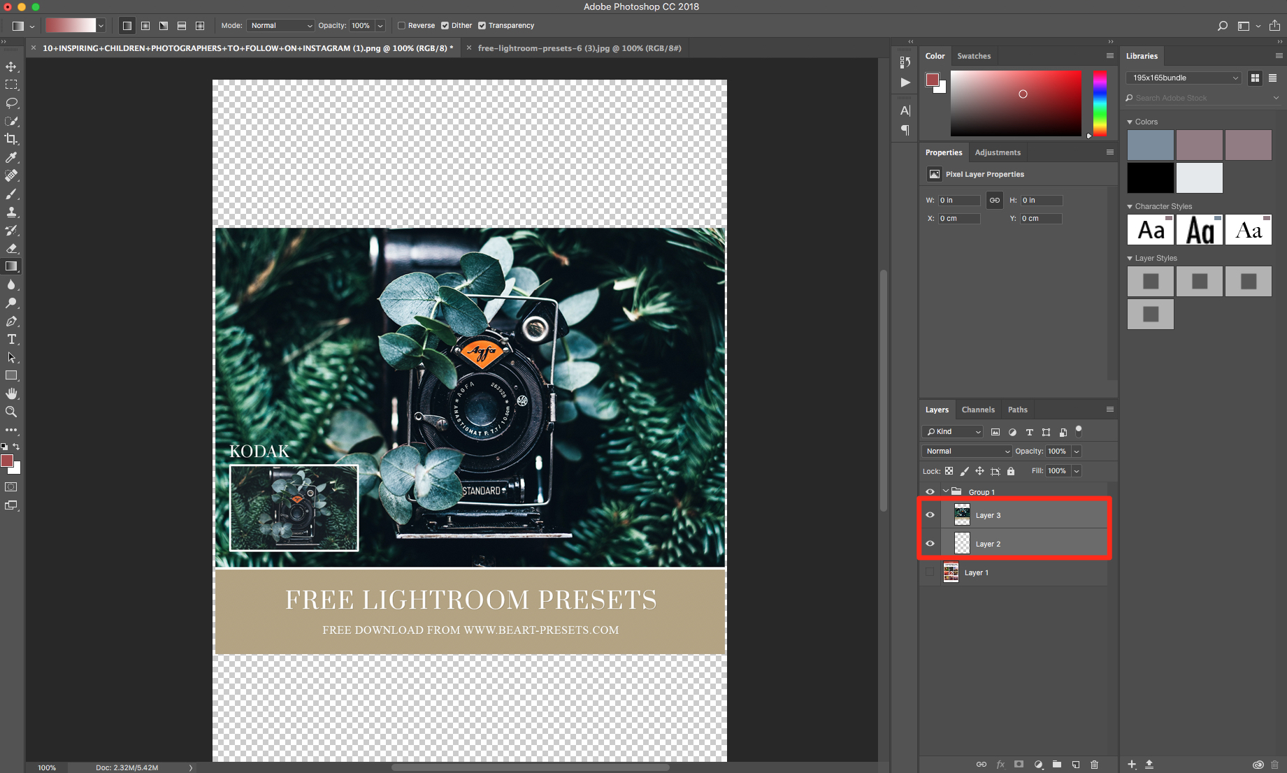 group layers in photoshop