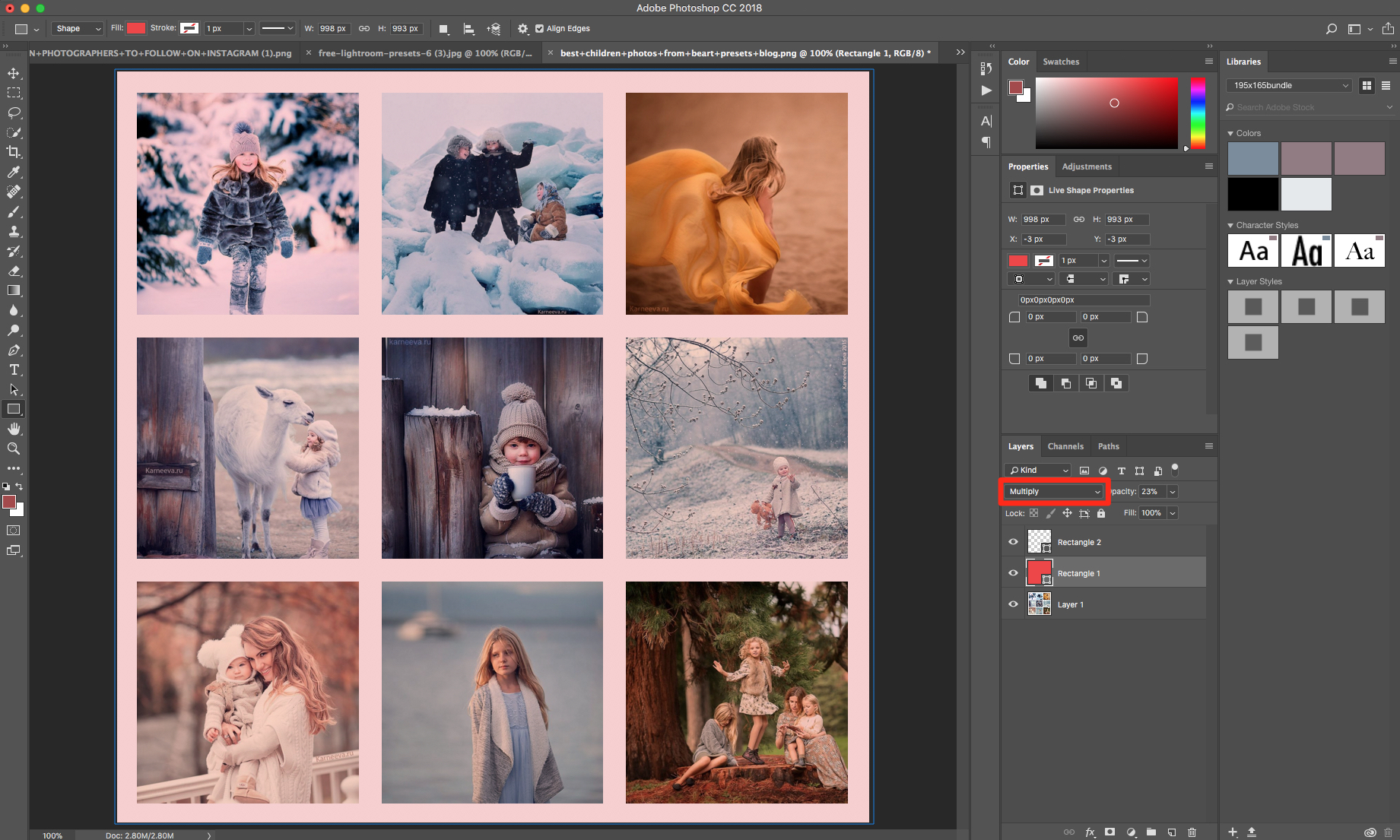 multiply option in photoshop