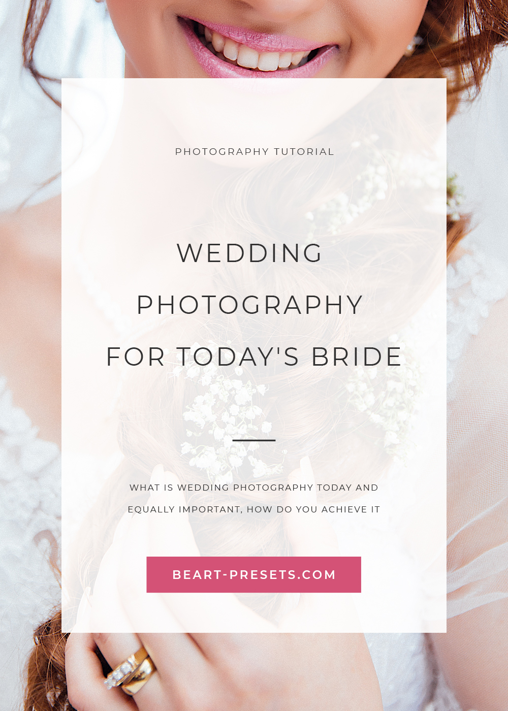 wedding photography for today's bride