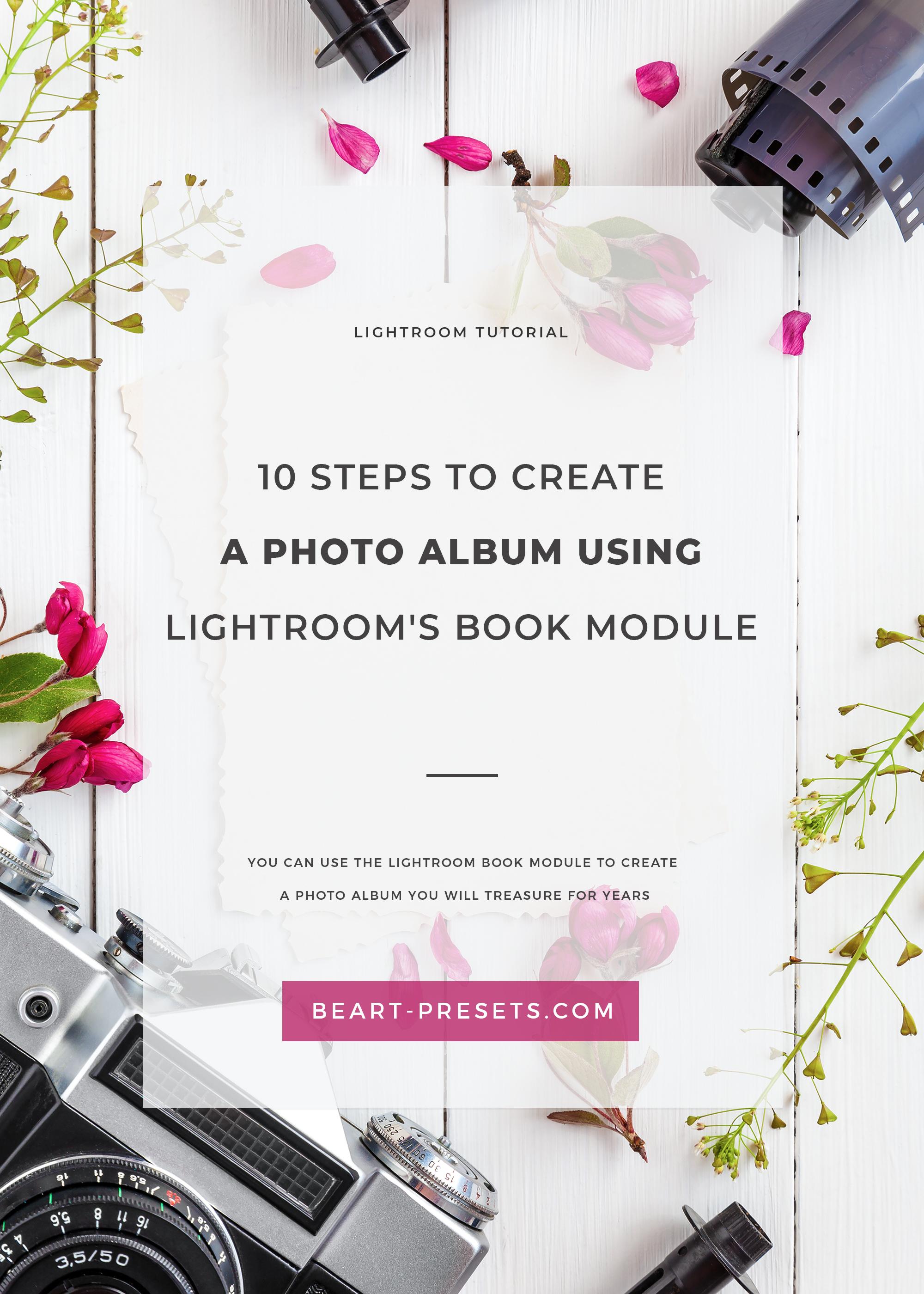 CREATE A PHOTO ALBUM USING LIGHTROOM'S BOOK MODULE