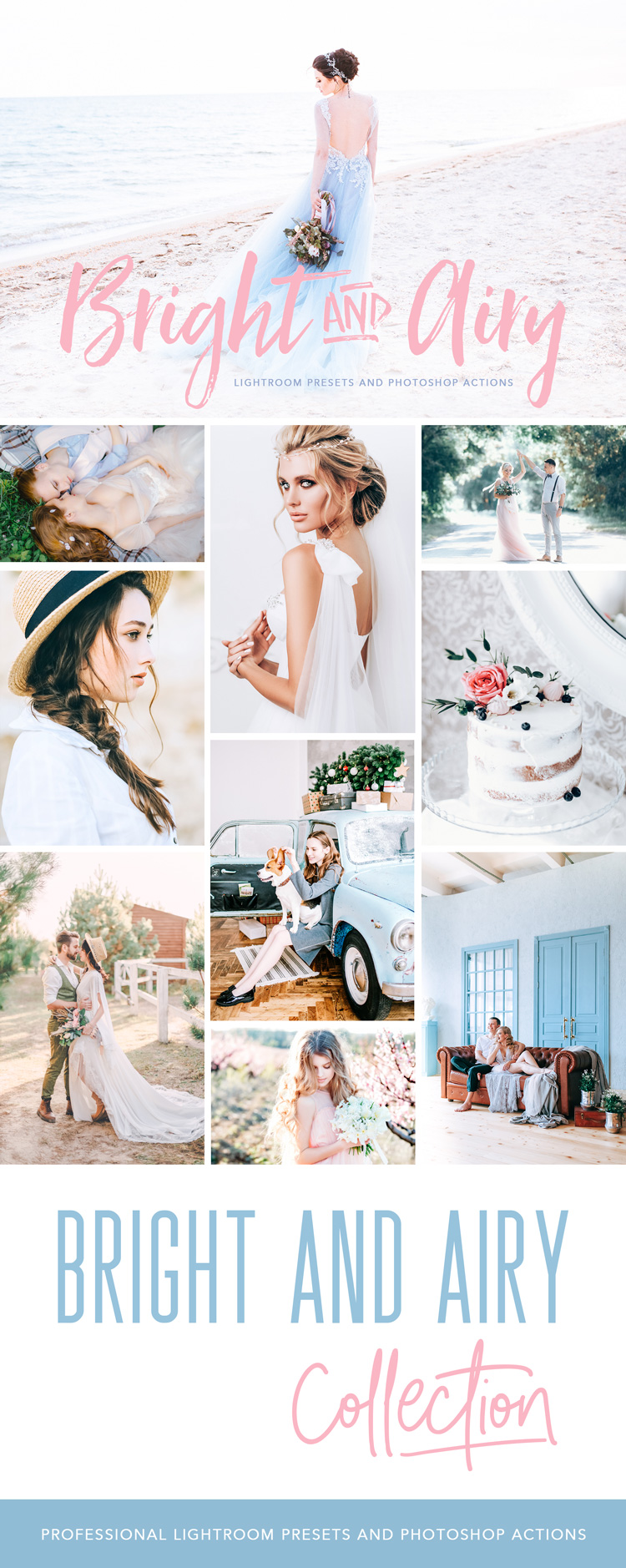 Bright and Airy photography Lightroom presets and Photoshop actions #photography #weddingphotography