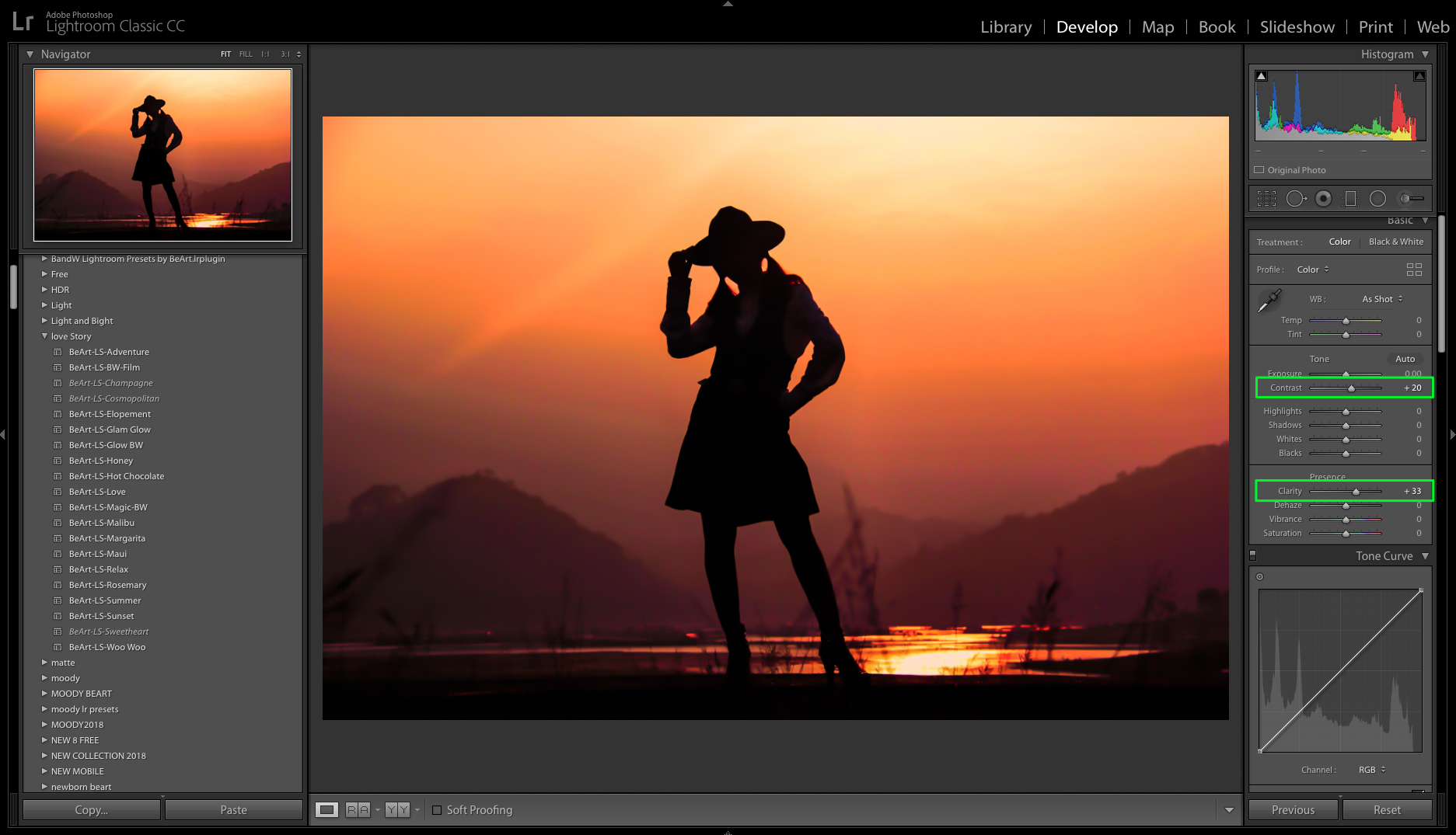 use contrast and clarity in lightroom