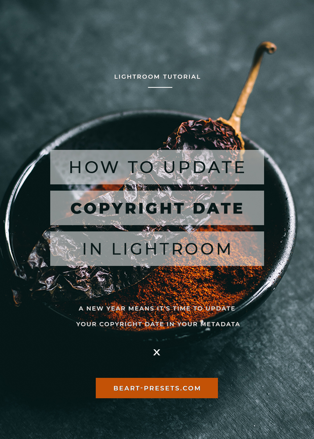 update your copyright date in your metadata