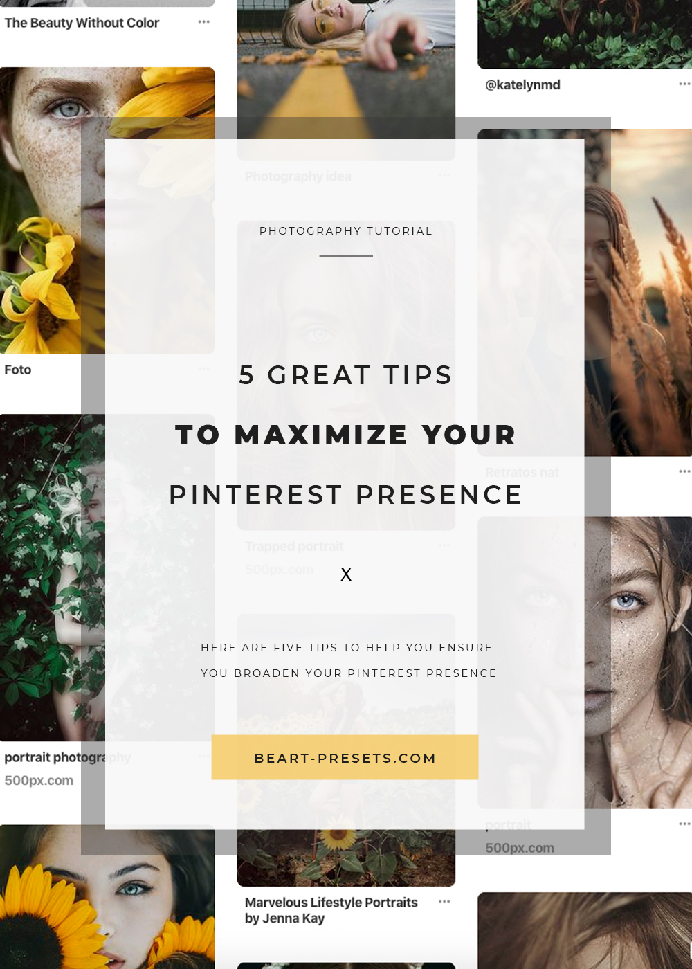 tips to maximize your pinterest presence