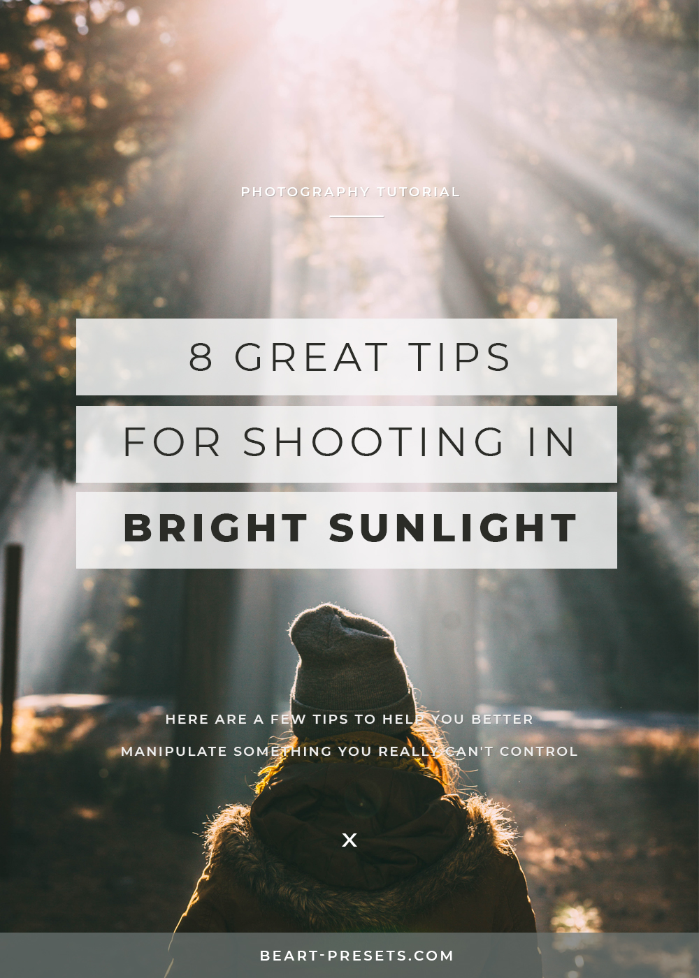 tips for shooting in bright sunlight