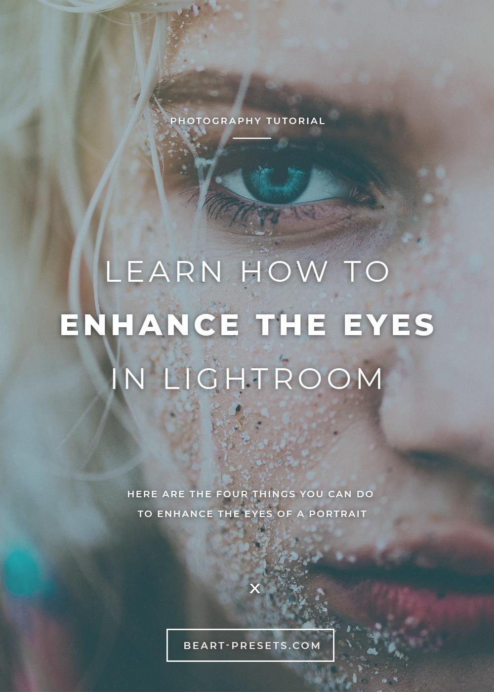enhance the eyes in lightroom