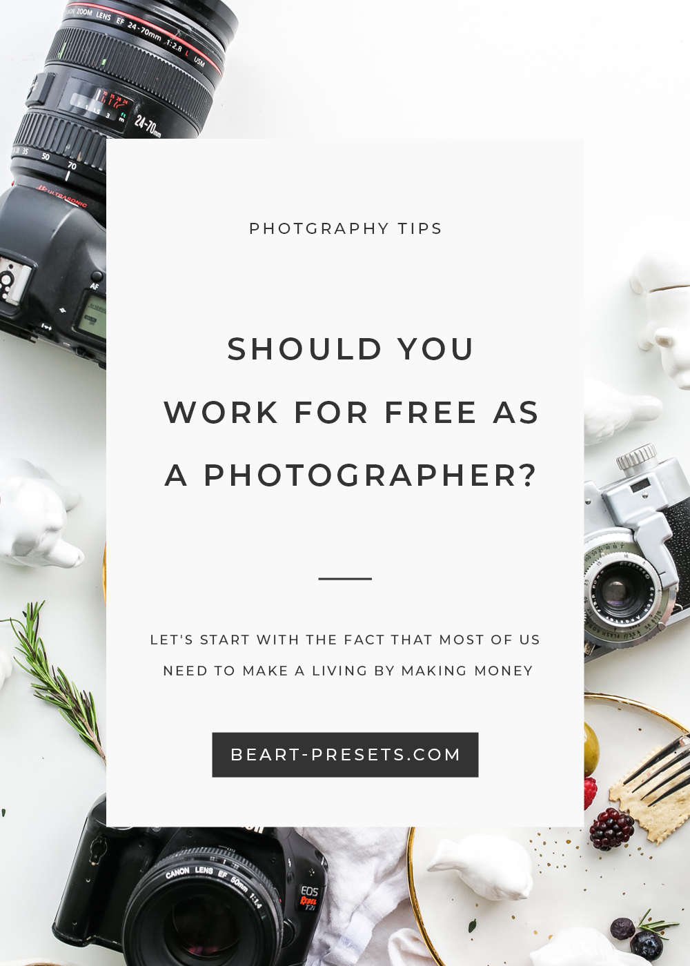 should you work for free as a photographer