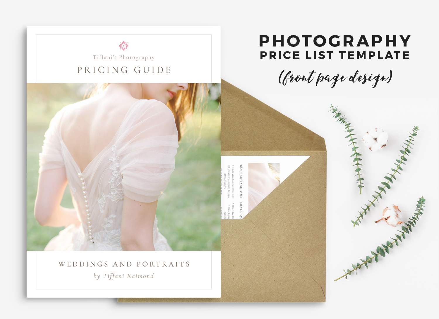 Wedding Photography price list template #photographytips