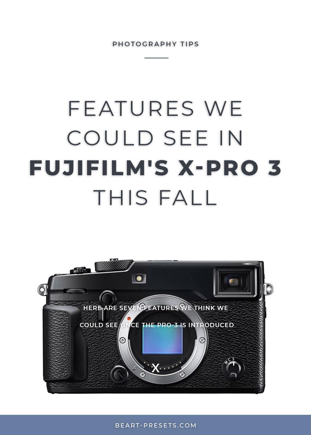 Fujifilm's X-Pro 3